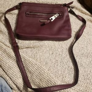 Dana Buchman brown leather satchel purse